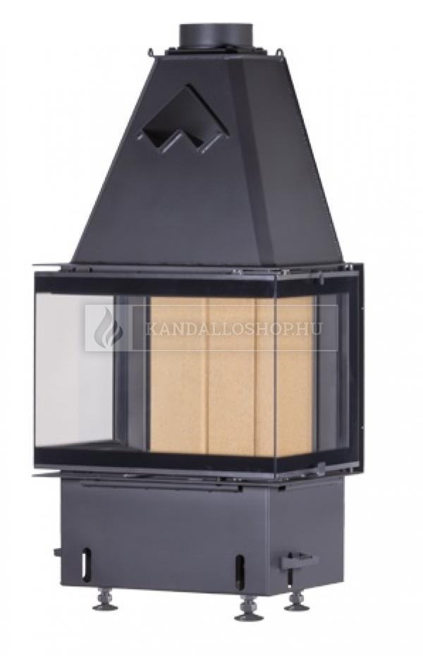 Kobok Chopok 2R 90 S/450 670/450 510 570 minőségi, masszív, három oldals kandallóbetét oldalra nyíló ajtóval kandalloshop