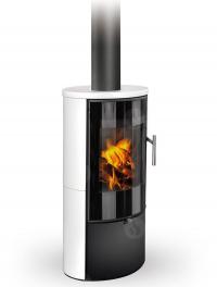 Romotop LAREDO 01 modern fatüzelésű kerámia kályha samott tűztérrel