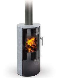 Romotop LAREDO 02 modern fatüzelésű zsírkő kályha samott tűztérrel