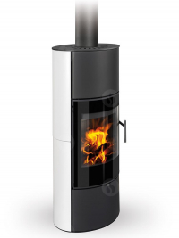 Romotop LAREDO 01 AKUM modern hőtárolós kerámia kandallókályha samott tűztérrel