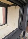 Romotop Heat U 3g L 50.52.70.21 minőségi acél, légfűtéses, sarki kandallóbetét liftes ajtóval kandalloshop