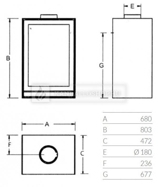 Nestor Martin TQH 43 sík üvegű légfűtéses kályha kandalloshop