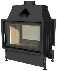 Kobok Chopok O 900/450 510 570 zárt égésterű, két oldali, légfűtéses, acél kandallóbetét samott tűztérrel