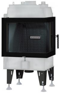 BeF Royal 7 CP hajlított üvegű légfűtéses kandallóbetét jobbos