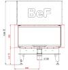 BeF Royal V 10 C háromoldalú léghűtéses kandallóbetét liftes tolóajtóval kandalloshop