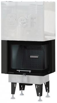 BeF Royal V 7 CP hajlított üvegű légfűtéses kandallóbetét jobbos liftes tolóajtóval
