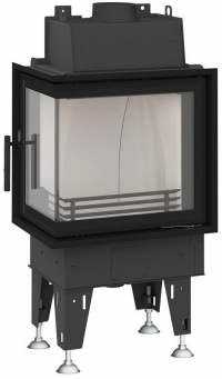 BeF Passive 6 CL hajlított üvegű hégfűtéses kandallóbetét ballos