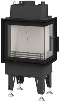 BeF Passive 6 CP hajlított üvegű hégfűtéses kandallóbetét jobbos