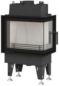 BeF Passive 8 CP hajlított üvegű hégfűtéses kandallóbetét jobbos