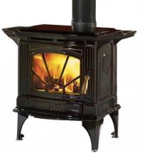 Hampton H205 másodlagos égéssel ellátott minőségi kanadai kályha barna zománc