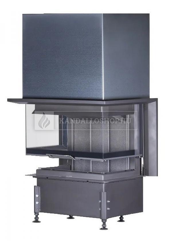 Kobok Chopok 2R90 S/500 VD 755/450 510 570 légfűtéses háromoldalú kandallóbetét liftes tolóajtóval kandalloshop