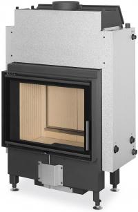 Romotop DYNAMIC WB 2g 66.50.01 sík üvegű vízteres dupla üveggel ellátott kandallóbetét hátsó ajtóval