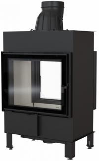 Kratki Lucy 12 T sík üvegű kétoldalas légfűtéses kandallóbetét