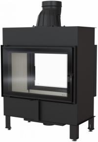 Kratki Lucy 14 T sík üvegű kétoldalas légfűtéses kandallóbetét