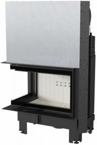 Kratki MBM 10 L BS G osztott üvegű kandallóbetét liftes tolóajtóval