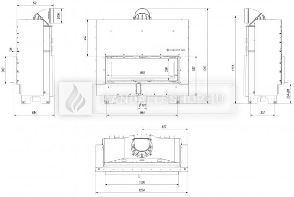 Kratki MB 100 G légfűtéses sík üvegű acél kandallóbetét liftes tolóajtóval kandalloshop