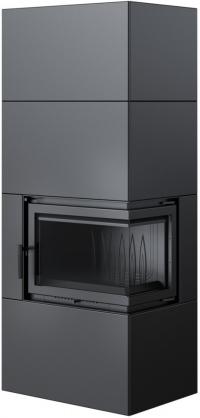 Kratki SIMPLE 8 BOX osztott üvegű légfűtéses acél kandallóbetét