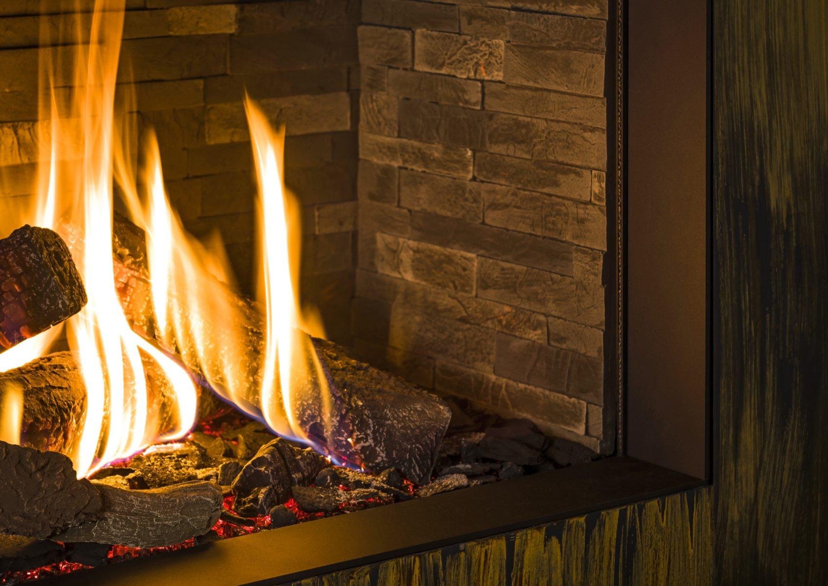 Széles tűzálló fatuskók a Trimline Fires gáz kandallóbetétekbe kandalloshop